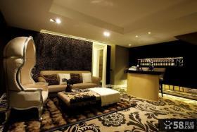现代家装客厅沙发背景墙效果图欣赏