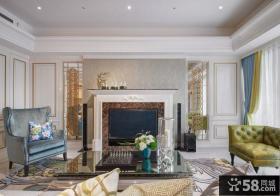 美式复式住房户型装修效果图大全2014图片