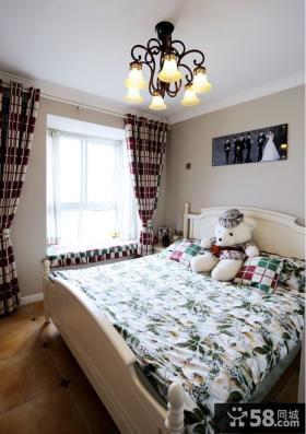 美式田园卧室窗帘