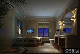 豪华奢侈的古典欧式风格客厅装修效果图大全2012图片