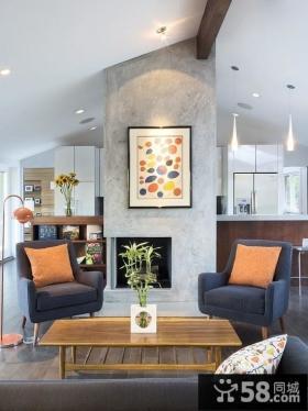 小户型现代简约客厅装修效果图欣赏