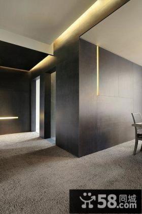 现代室内隔断墙效果图