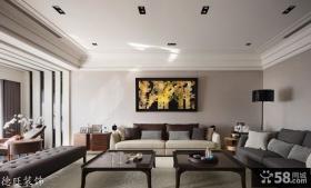 现代小户型客厅室内装饰壁画图片