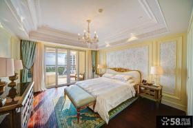 欧式家居风格大卧室装修设计效果图