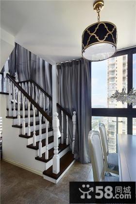 简美式风格复式小楼梯