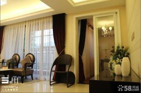 客厅窗帘镂空隔断设计图