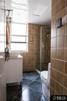 美式混搭家居卫生间装修案例
