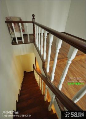 实木扶手楼梯装修效果图