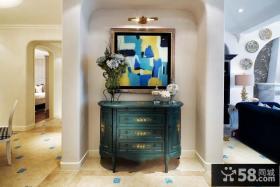 地中海房屋玄关鞋柜装饰图片