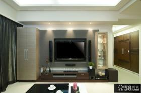 现代风格二居室电视背景墙装饰设计图片