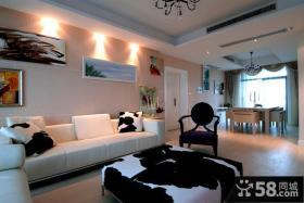 现代创意风格沙发背景墙效果图