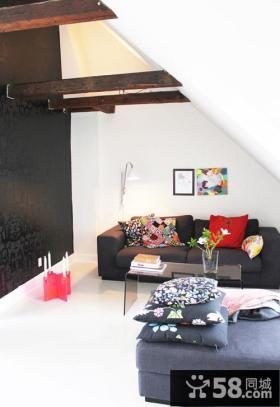 小复式楼青春动感的客厅装修效果图大全2014图片