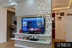 现代电视背景墙壁纸装修效果图大全