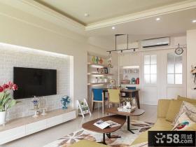 浪漫北欧风格小户型客厅设计效果图