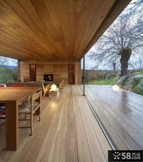 木制别墅客厅地面装修