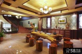 欧式别墅创意餐厅设计效果图片