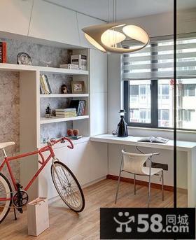 小户型小书房改阳台装修效果图