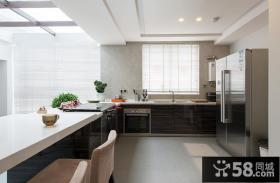 现代简约风格复式室内厨房设计效果图