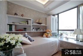 儿童房卧室飘窗装修效果图