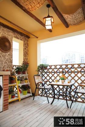 田园风格室内阳台装饰设计效果图片