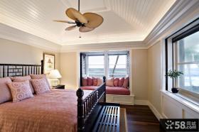 欧式卧室飘窗设计图片