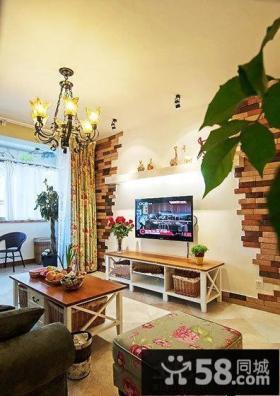 田园风格客厅电视背景墙图片大全欣赏