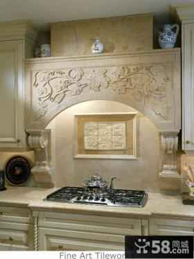 厨房橱柜装饰浮雕图片