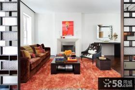 清新美式风格客厅装修效果图