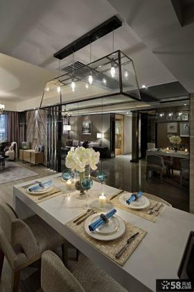 现代风格餐厅吊顶灯图片