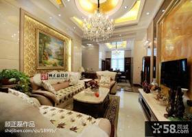 现代欧式复式楼客厅装修效果图欣赏