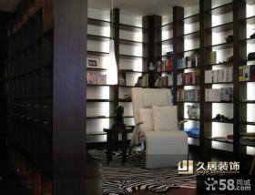 中式古典书房书架效果图
