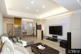 现代简约风格电视背景墙设计图大全