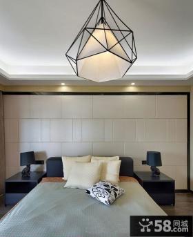 混搭风格卧室装修灯具图片欣赏