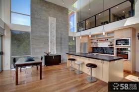 复式简约开放式厨房装修效果图大全2013图片