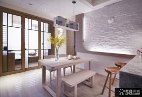 现代家居120平米三室两厅效果图