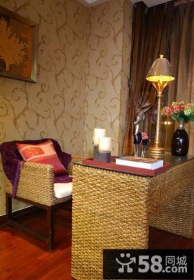 美式风格家装小书房设计效果图