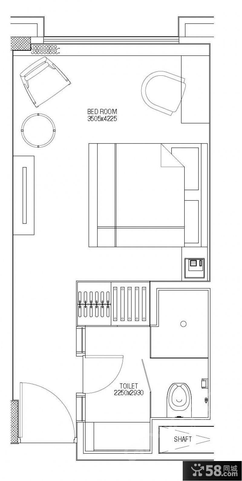 【长方形户型装修效果图】 - 58同城装修效果图大全