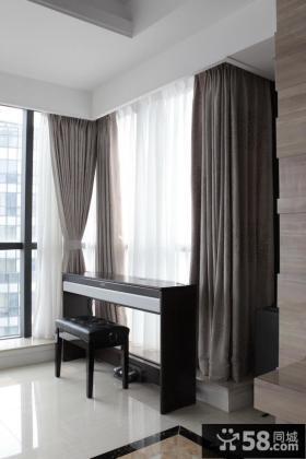 客厅阳台落地窗帘装修效果图片欣赏
