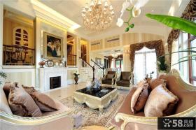 新古典风格别墅客厅装潢图片