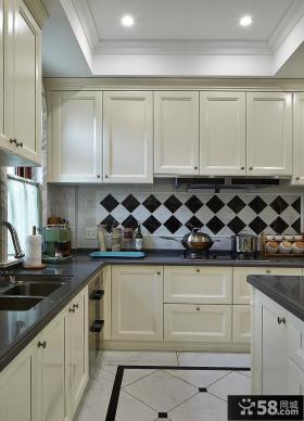 简欧别墅室内厨房效果图片欣赏