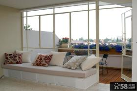 客厅阳台飘窗设计效果图