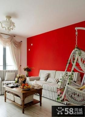 客厅沙发背景墙面漆颜色效果图