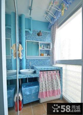 地中海风格生活阳台装修效果图片