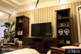 现代美式风格电视背景墙