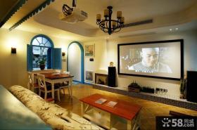温馨地中海复式家装案例