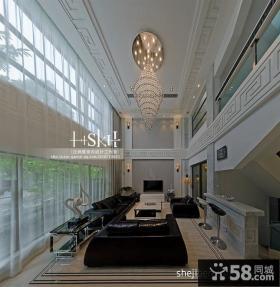 现代复式楼客厅吊顶装修效果图欣赏