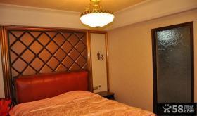 欧式卧室床头软包背景墙装修效果图