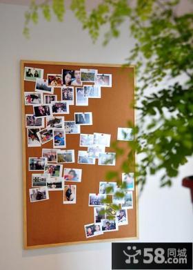 现代室内相片墙设计装饰效果图
