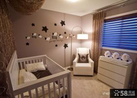 2013现代风格别墅时尚小儿童房手绘窗帘装修效果图片