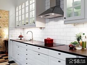 89平小户型北欧清新的厨房装修效果图大全2014图片
